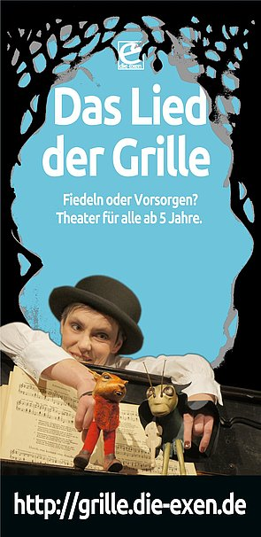 Download: Das Lied der Grille, Puppentheater: der Flyer.
