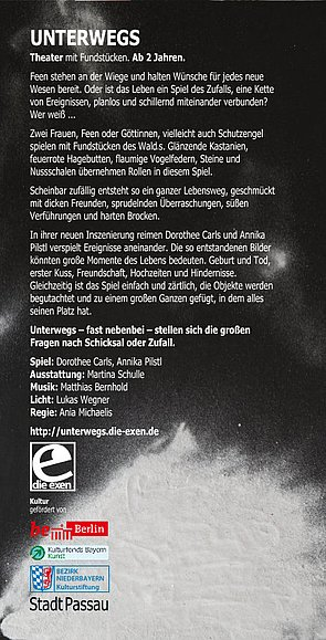 Download: Unterwegs, Theater mit Fundstücken: der Flyer.